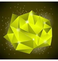 Abstract Polygonal Yellow Banner vector image