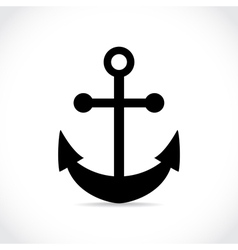 an anchor on white background vector image