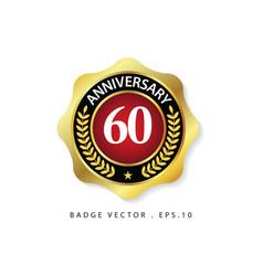 Anniversary 60 template design vector