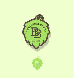 Belgian beer logo vector