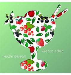 berry dessert vector image vector image