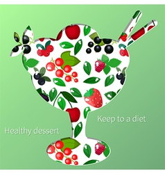 berry dessert vector image