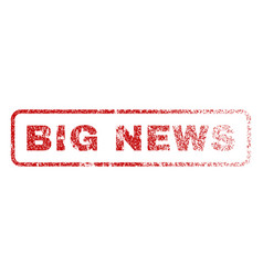 Big news rubber stamp vector