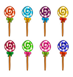 big set of candy color vector image