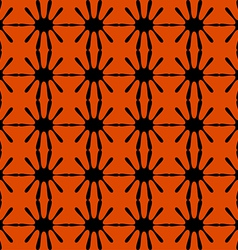 Black pattern geometric seamless on red background vector image
