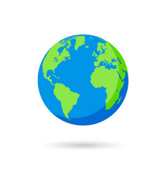 blue and green earth globe vector image
