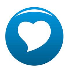 Brave heart icon blue vector