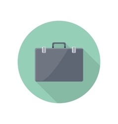 Briefcase Icon in Flat Style Design vector