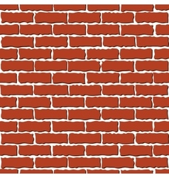 brown brick wall vector image