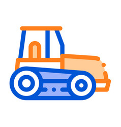 caterpillar tractor vehicle thin line icon vector image