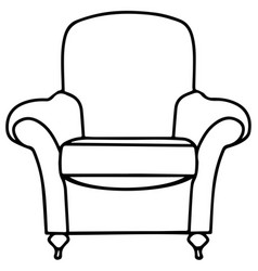 chair sofa isolated flat web mobile icon vector image