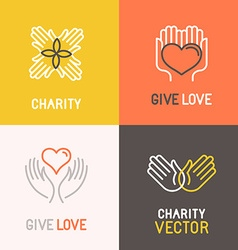 Charity and volunteer concepts vector