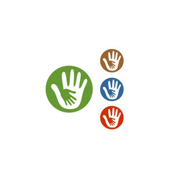 circle hand care logo vector image