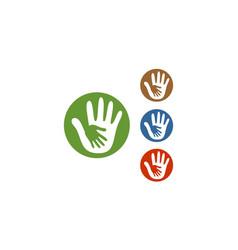 circle hand care logo vector image