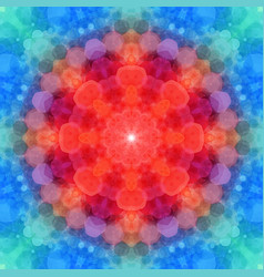 circle pattern made of red and blue hexagonal vector image
