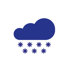 cloud with snow symbol winter element icon in vector image