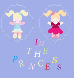 Collection of beautiful princesses vector