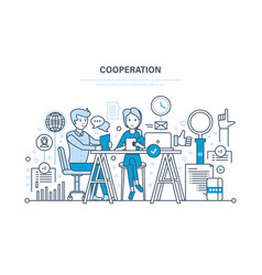 Concept cooperation collaboration partnerships vector
