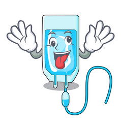 Crazy infussion bottle mascot cartoon vector