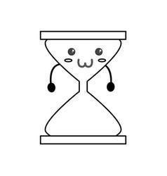 Cute hour glass kawaii vector
