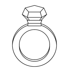 Diamond ring icon outline style vector
