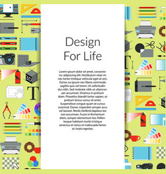 digital art design background with ribbon vector image