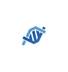 dna logo gen strain genetic bio icon symbol vector image
