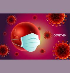 Earth coronavirus covit -19 wuhan danger vector