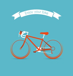 Engoy your bicycle image vector