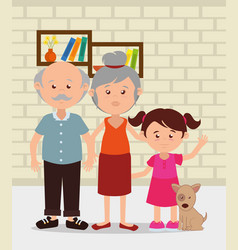 Family members in the house characters vector