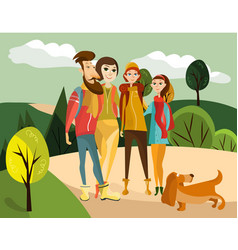 Family travel concept vector