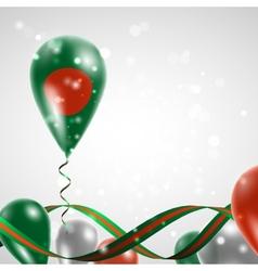 Flag of Bangladesh on balloon vector