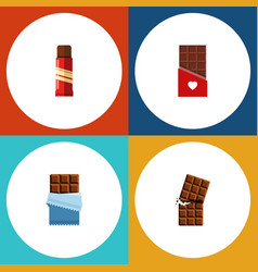 flat icon bitter set of chocolate bitter wrapper vector image