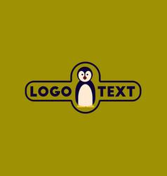 flat icon on background penguin logo vector image