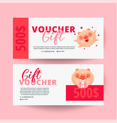 gift certificate valentines day voucher vector image