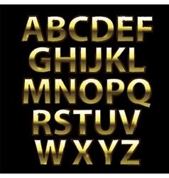 Gold Grunge Alphabet vector