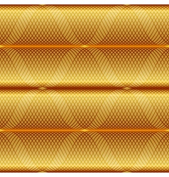 Gold seamless geometric pattern vector