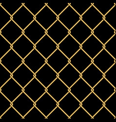 gold wire grid seamless pattern background on vector image
