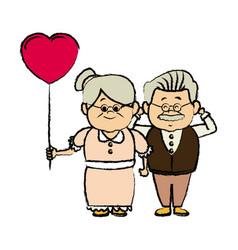 grandparents holding hands grandpa and grandma vector image