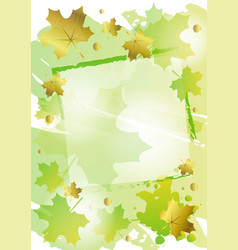 green background decorated with frame and green vector image