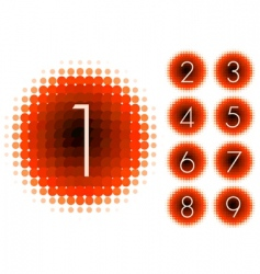 halftone numbers vector image