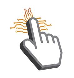 Hand tech Design vector image