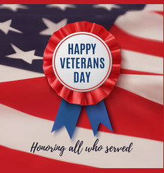 Happy veterans day patriotic background vector