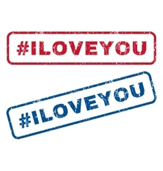 Hashtag Iloveyou Rubber Stamps vector image