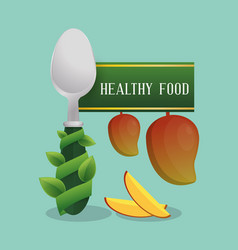 healthy food fruit diet poster vector image