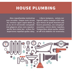 house plumbing information board vector image