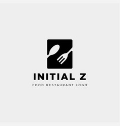 Initial z food equipment simple logo template vector