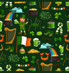 irish religious holiday patricks seamless pattern vector image