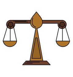 justice scale law symbol vector image