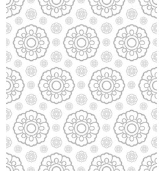 Korean traditional gray plant pattern background vector